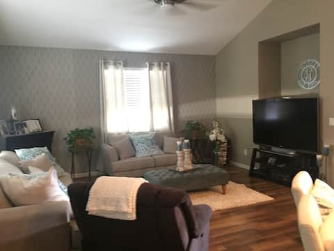 Extra sleep space pull out sofa in Living Room