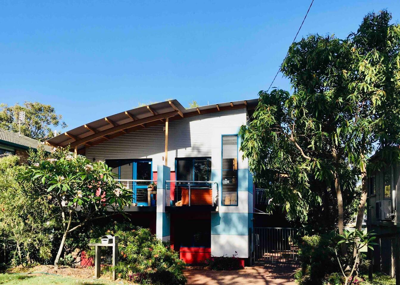 Architecturally-built beachside getaway