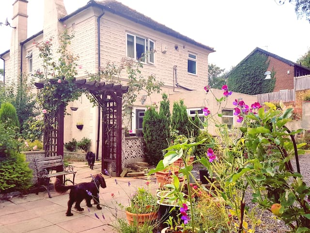 Cosy room,detached house, people & dog friendly