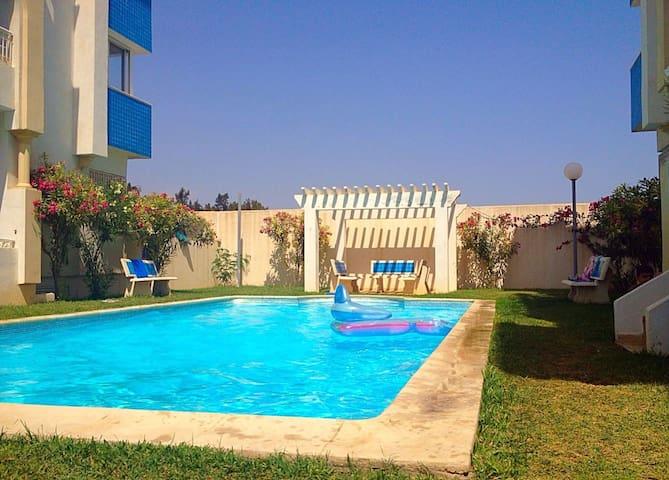 Bel Apartment vue sur mer - Hammamet Sud - 公寓