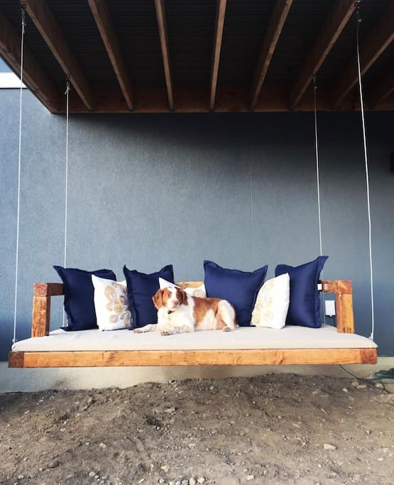 Backyard bed swing