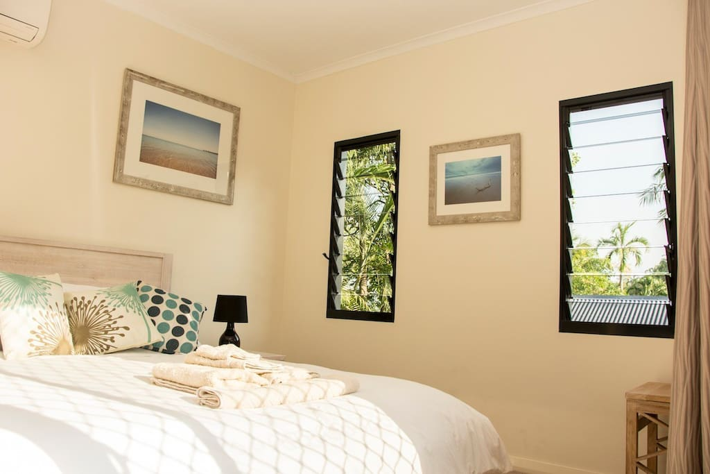 double bedroom at rear of main house