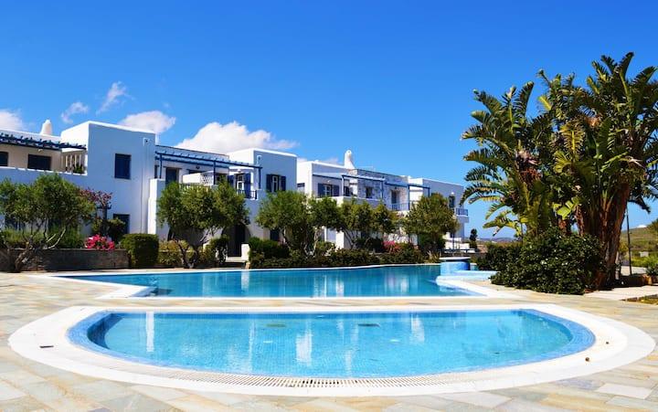 Molos beach maisonette  with com. pool