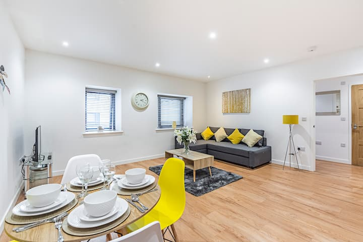 Fancy and luxe 1-bedroom flat in the city!
