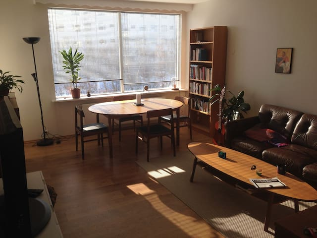 Spacious Room in Writer's Apartment Near Center - Reikiavik - Apartamento