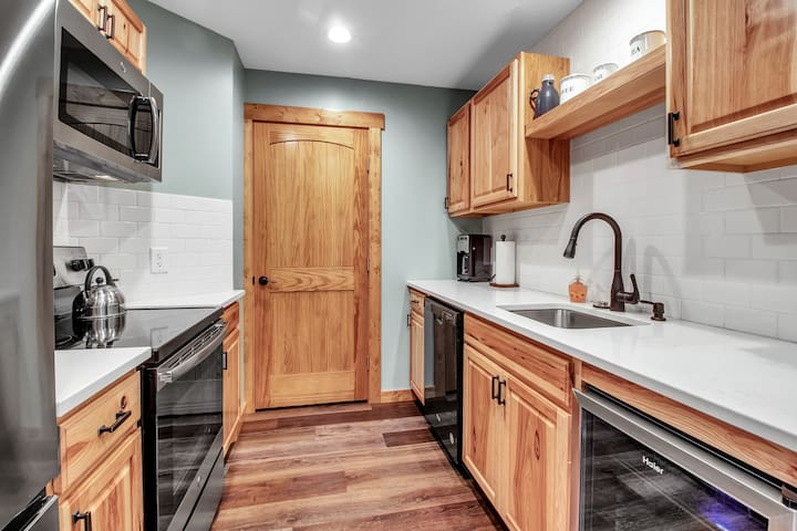 Galley Kitchen with everything you'll need.