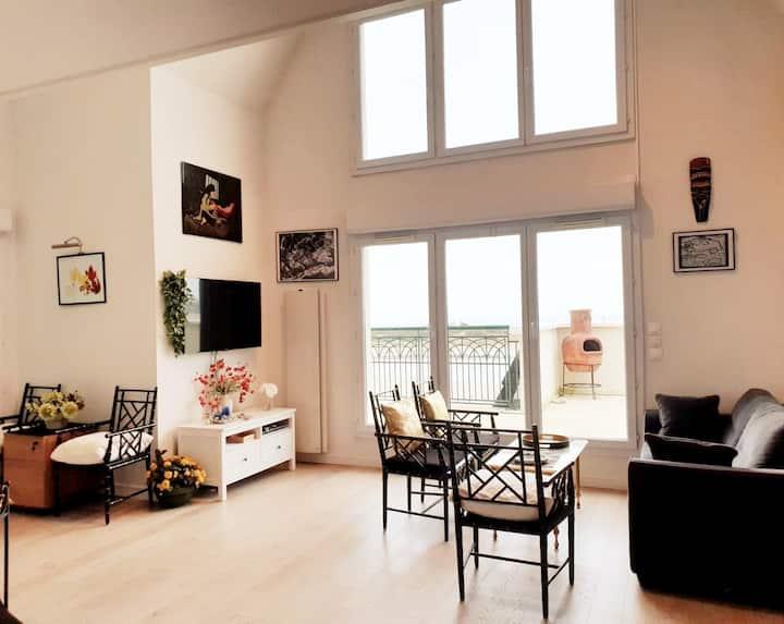 Villa sur le toit 105m² Front de mer Terrasse 70m²