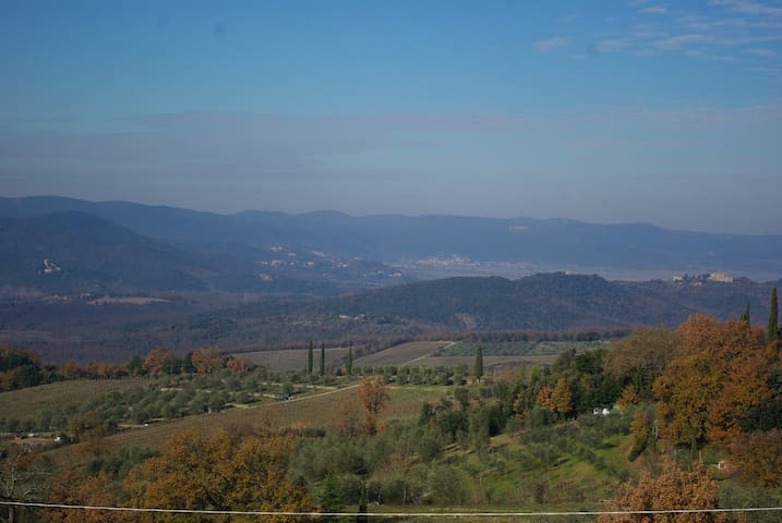 Cozy appartment 15 min from Siena on the hills - Poggio Lodoli
