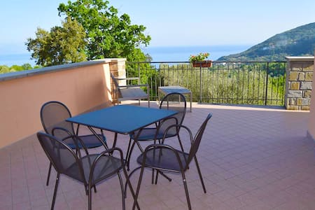 Apartment with view over the Gulf of Policastro