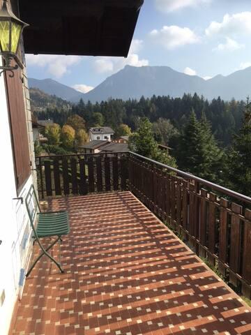 fantastica vista sulla valle Seriana