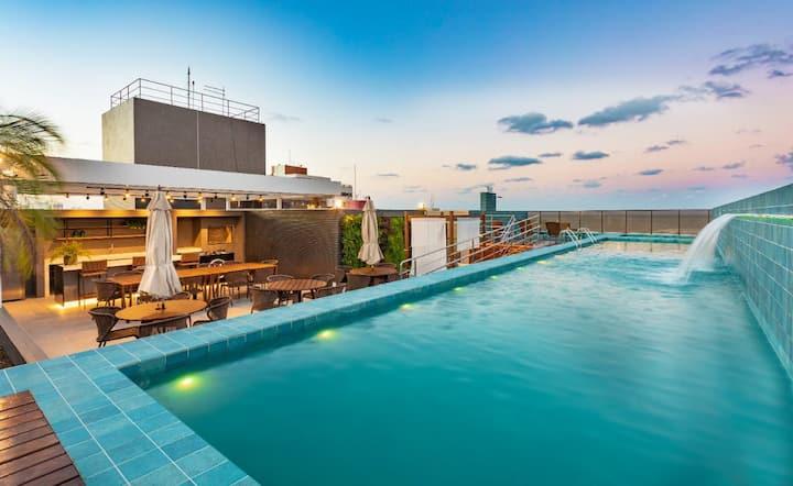 Apartamento mobiliado em Manaíra a 300m do mar