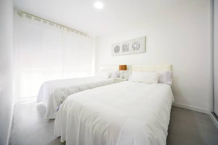 Apto 1 dormitorio - 2 camas | Rueiro 17 - 1B
