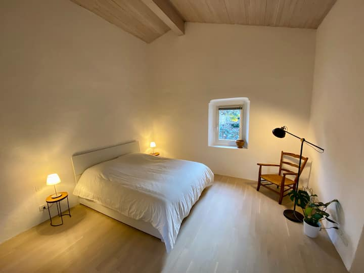 Two storey lodge in the historic centre of Losone