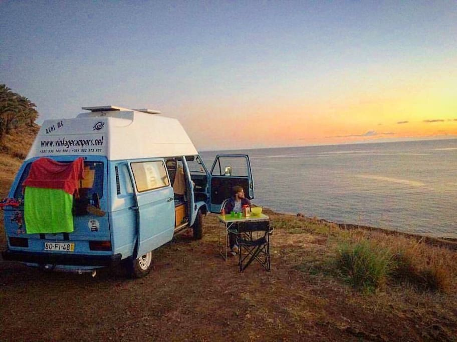 vw t3 t25 camper madeira island camping cars caravanes louer funchal madeira portugal. Black Bedroom Furniture Sets. Home Design Ideas