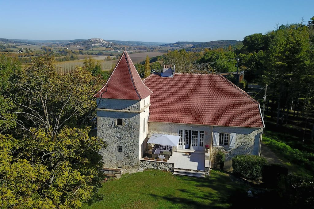 Montage France sits high on a hill with scenic valley and village views