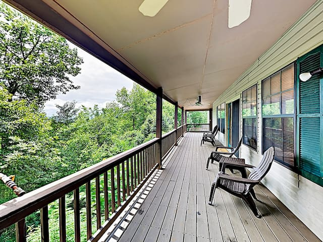 Sip morning coffee on the wraparound deck, furnished with seating for 4.