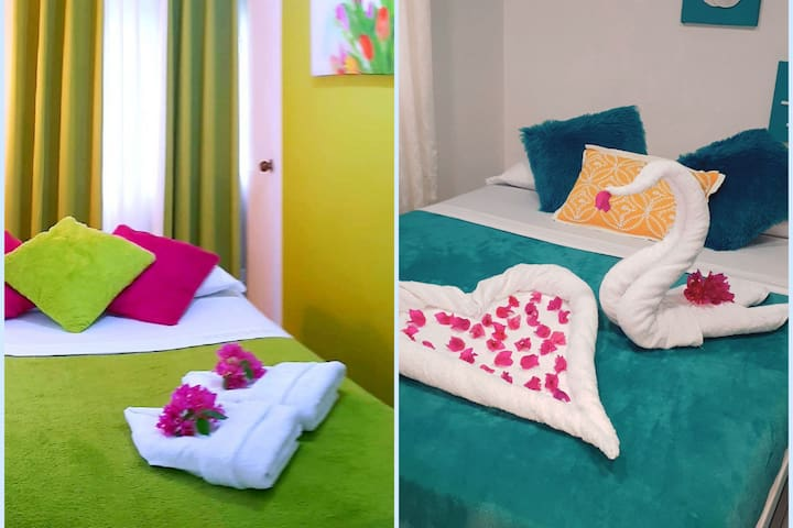 ColorfulGardenHouse TWO NICE ROOM FOR 4 PERSON