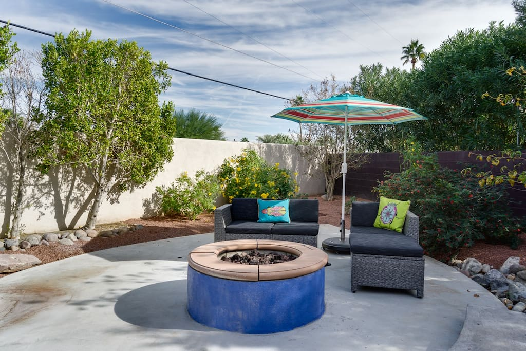 Make s'mores around the circle fire pit with comfy seating