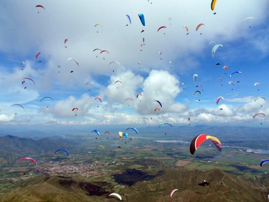 Paragliding the primary sport in the Area
