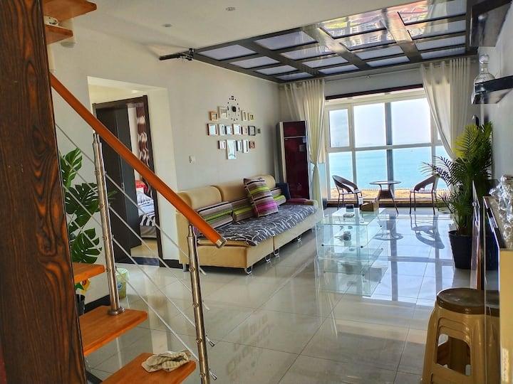养马岛旁观海公寓 梦想中的家Loft