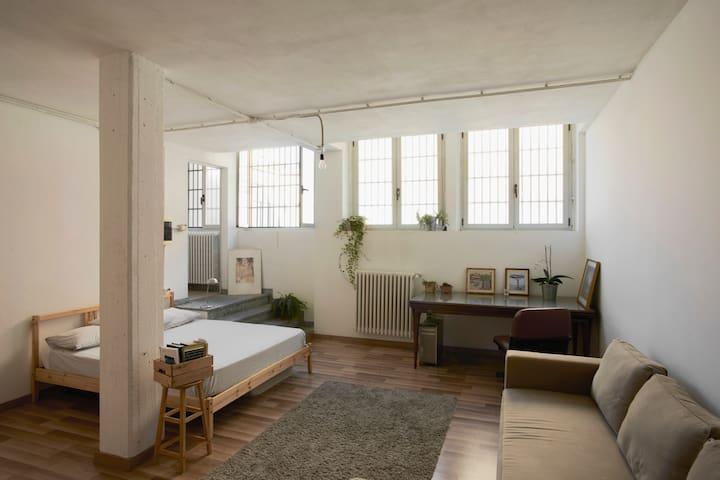 Big room in old printing house