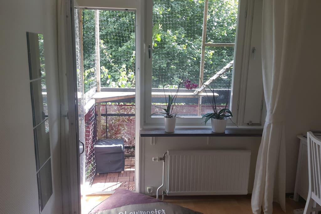 Host's bedroom and balcony