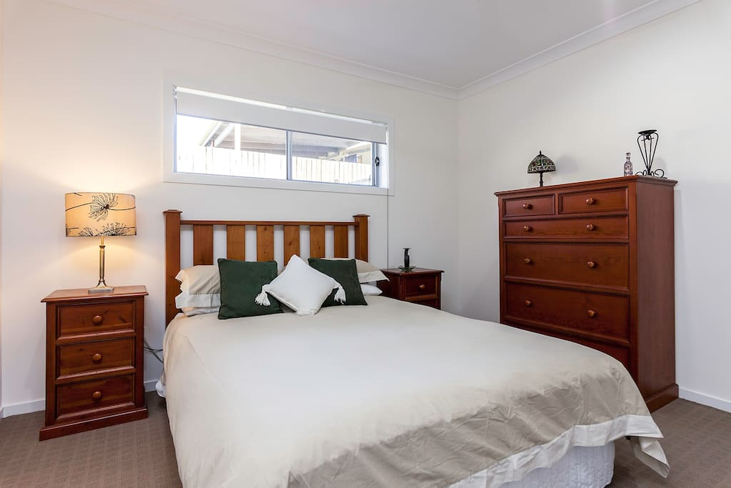 Large bedroom with queen size bed