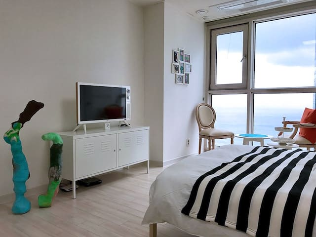 Art House + Haeundae Beach View - 부산광역시 - Apartemen