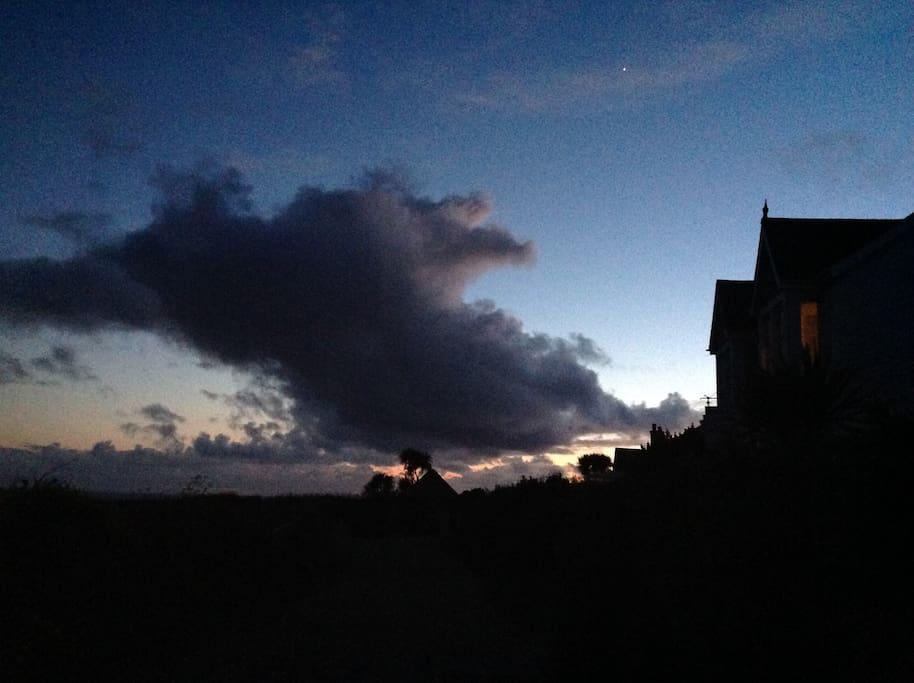 Poldark skies at Atlantic House