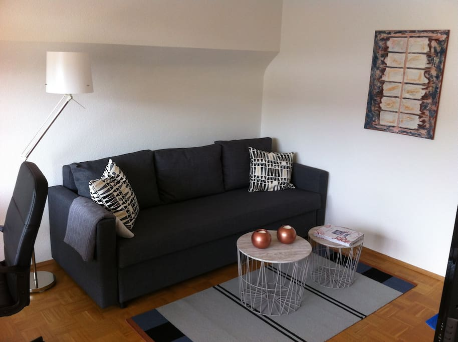 1 zi apartment hell und chic houses for rent in for Schlafsofa 80x200