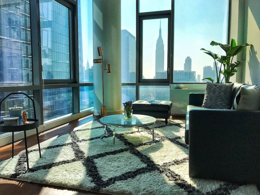 Empire State is direct of your living room