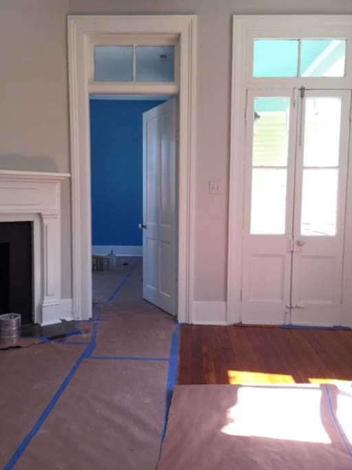 The paint is dry, furniture is in place.  See more photos.