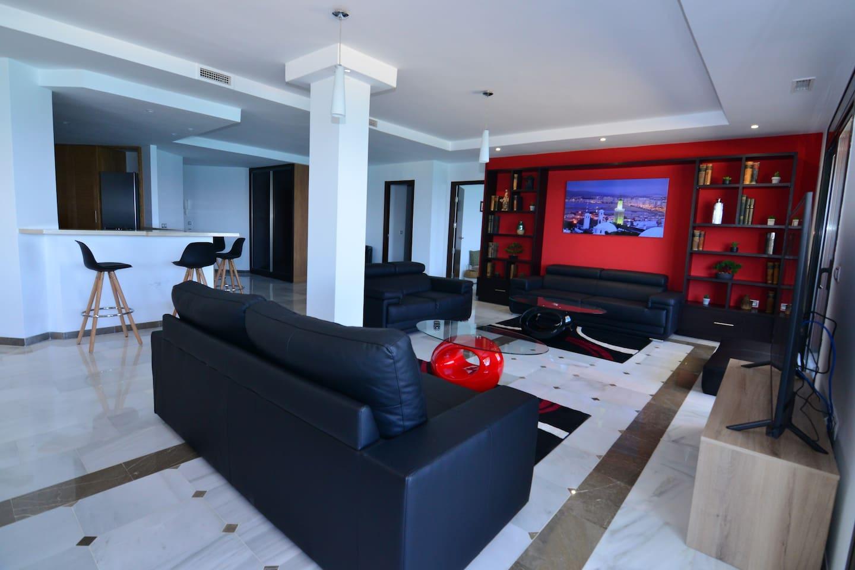 Coin salon , espace télévision