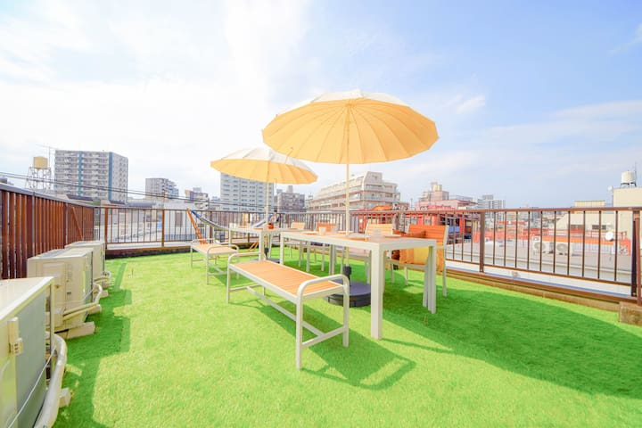 ☆SKY TERRACE Villa☆IKEBUKURO/Max18ppl/Car Parking