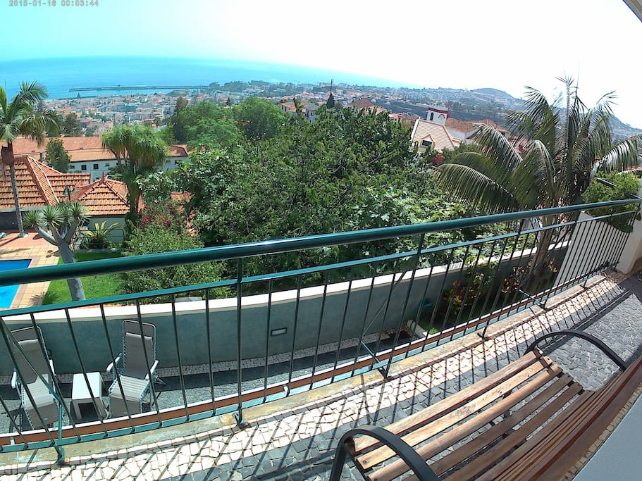 A balcony where can  sit and enjoy the wonderful landscape from Lena's Place