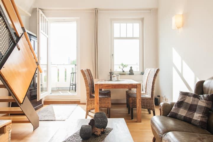 Lovely maisonette domicile w/ feel-good atmosphere
