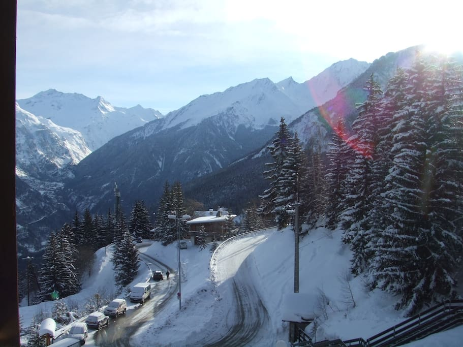 View from the balcony, Winter
