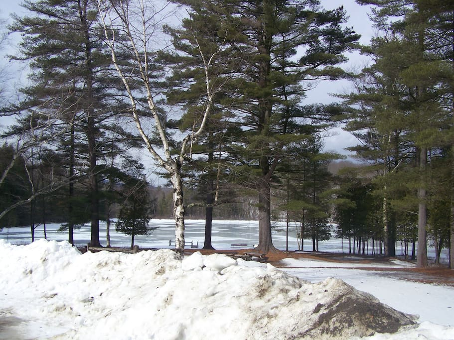 Ordway Pond In winter