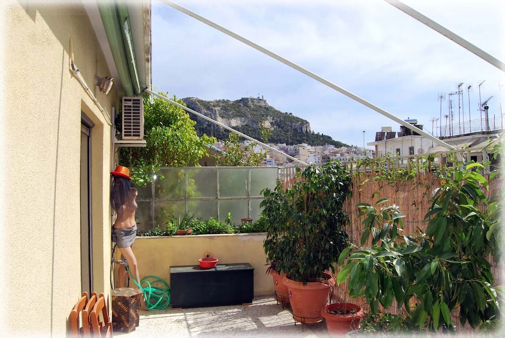 open view to lycabettus Hill