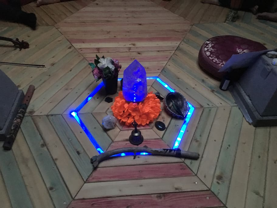 Center of the Beehive - crystals light up for magic.