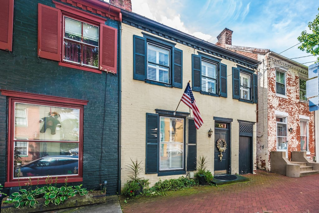 Walking distance to the heart of Frederick. One block from Market Street and Carroll Creek.