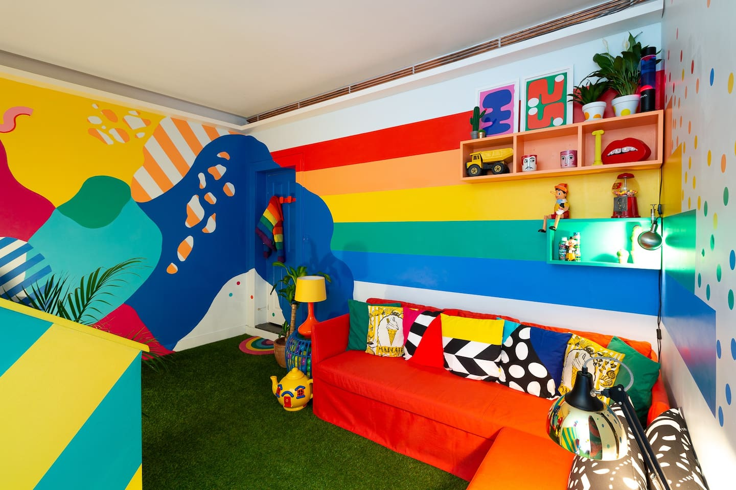 A riot of colour, a modern day funhouse and a place filled with joy!