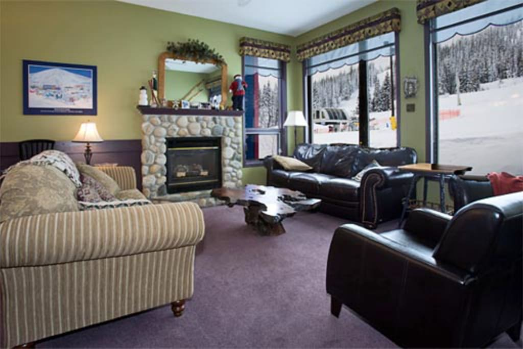 Living Room- Lots of Seating and Large Windows