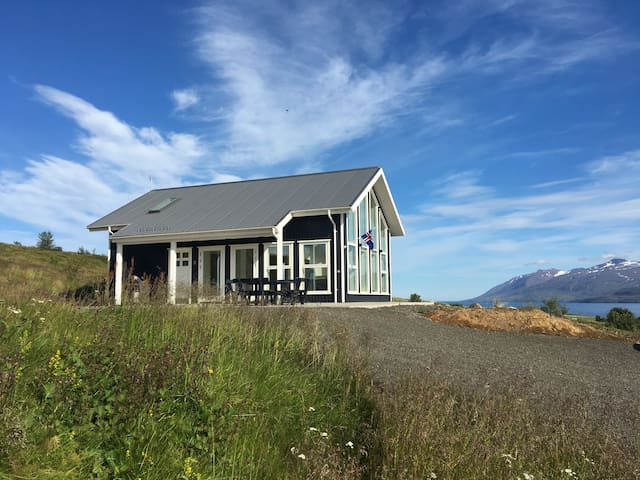 Modern cottage in beautiful surroundings.