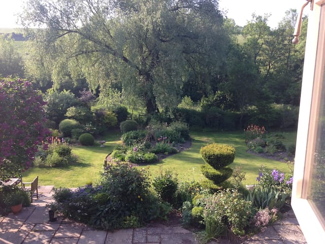 My cottage is situated in a delightful and secluded garden in an Area of Outstanding Natural Beauty