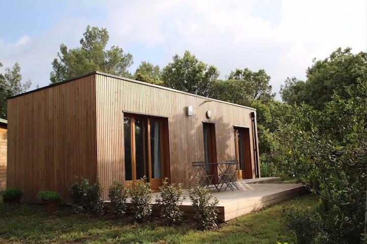 Chalet en bois contemporain & Piscine