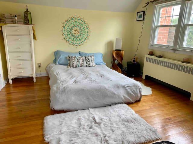 Yoga room in beautiful peaceful house