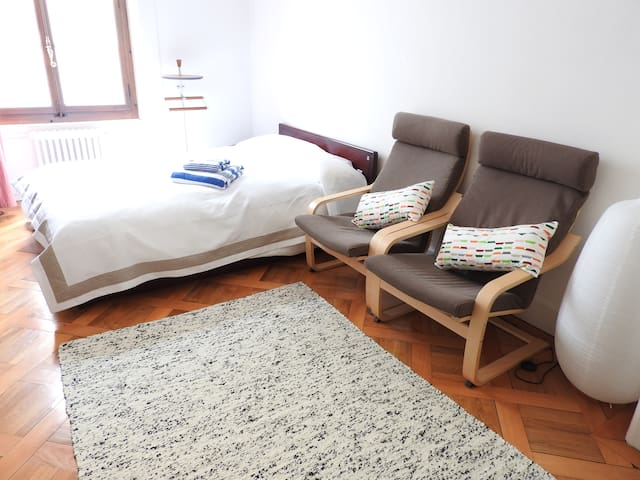 A room in a family flat in the central Geneva - Geneve - Huoneisto
