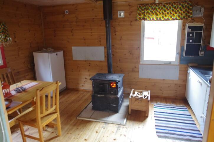 Lapland Snow Cottage - med vedeldad bastu