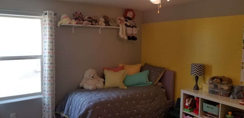 Twin bed with trundle/child's playroom